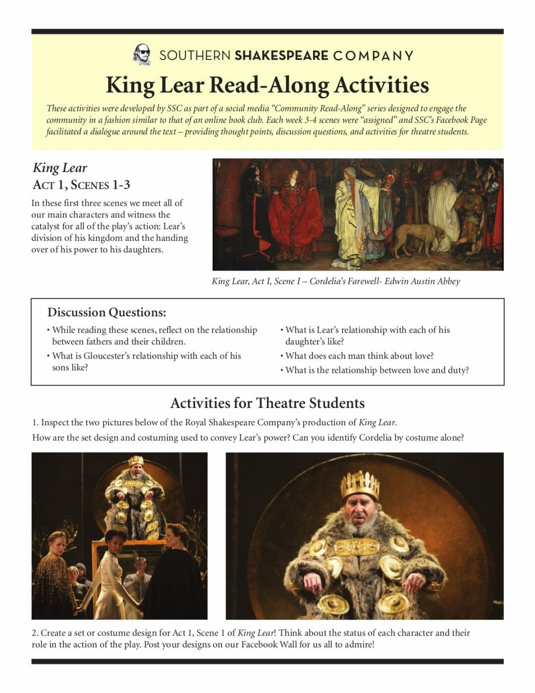 King Lear Read Along Resources pt.1