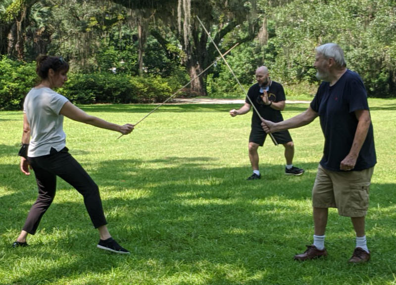 Local Stage Performers Learn The Fine Points Of Dramatic Swordplay